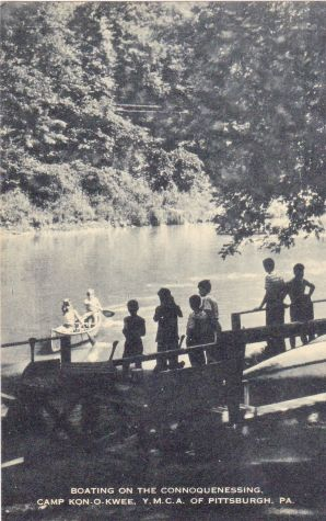 Boating on the Connoquenessing, Camp Kon-O-Kwee.jpg